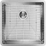 Elkay ECTRU17179DBG 18-Gauge Stainless Steel 18.5-Inch X 18.5-Inch X 9-Inch Single Bowl Undermount Kitchen Sink Kit, Polished Satin