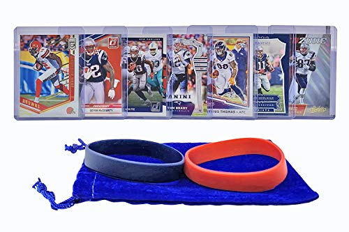 (New England Patriots Cards: Tom Brady, Rob Gronkowski, Devin McCourty, Julian Edelman, Josh Gordon, James White, Demaryius Thomas ASSORTED Trading Cards and Wristbands Bundle)