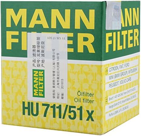 MANN OIL FILTER HU711//51X MITSUBISHI OUTLANDER NISSAN SHUAIKE PEUGEOT 206 207 3008 307 407 RCZ 2008 301 MANN+HUMMEL.