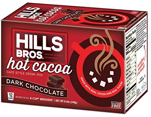 Hills Bros Dark Chocolate Hot Cocoa, Keurig K-Cups, 12 Count