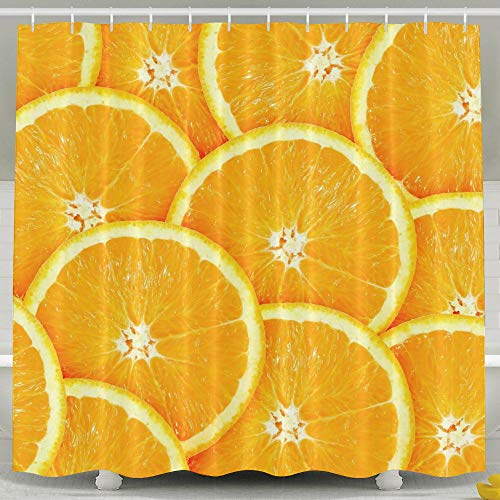 Individually Slices Wrapped (Shectan Orange Slice Waterproof Shower Curtain with Hooks)