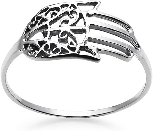 Green Evil Eye Sterling Silver Ring Sizes 6-10 .925 Pure Silver
