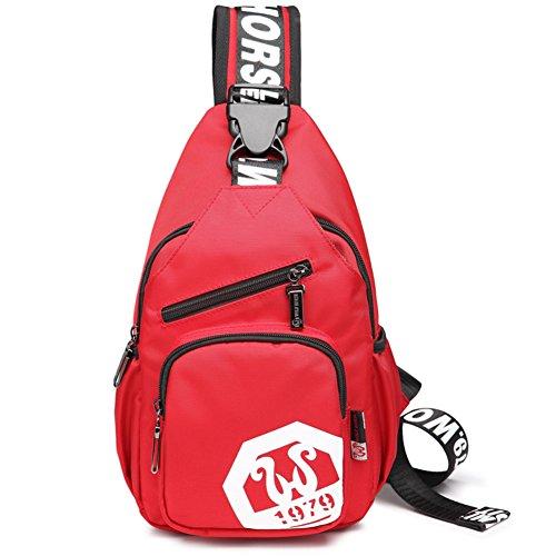 Pecho casual hombres Pack/Viaje diagonal packet/Paquetes de deporte al aire libre/hombro bolsillos/bolso de hombro inclinado-C C