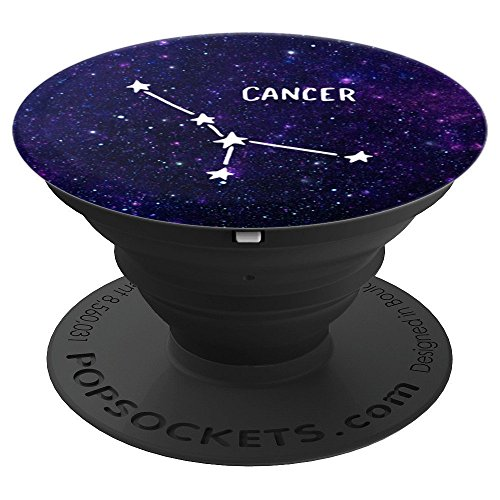 Cancer Zodiac Astrology Sign With Stars & Space - PopSockets Grip and Stand for Phones and Tablets