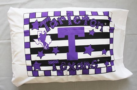 Bunnies and Bows - Tarleton State University - Personalized (University Bow Pillow)
