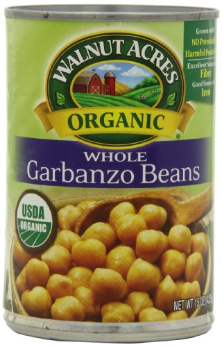 Walnut Acres Organic Garbanzo Beans, 15 Ounce Cans (Pack of 12)
