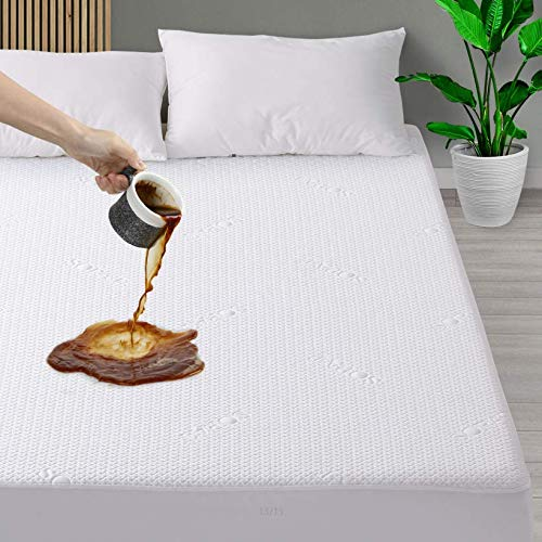 SOPAT Mattress Protector 100% Waterproof Mattress Pad Cover 3D Air Fabric, Breathable,Smooth Soft Cover