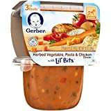 Gerber Purees 3rd Foods Herb Vegetable Pasta Chicken with Lil Bits, 10 Ounce (Pack of 6)