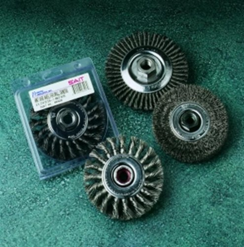 SAIT 03428 4 X.014 X M10 X 1.25 Carbon Steel Wire Wheel Regular Twist