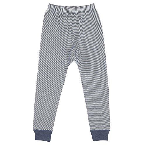 Organic Wool & Silk Long John Pants (116 (4-5 yrs), Indigo (Stripe Long Johns)