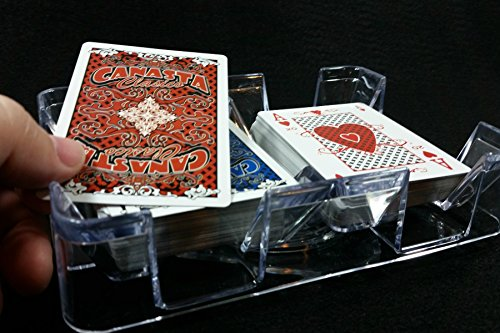 Deluxe Revolving Two Deck, Plastic Playing Card Tray - MADE IN USA