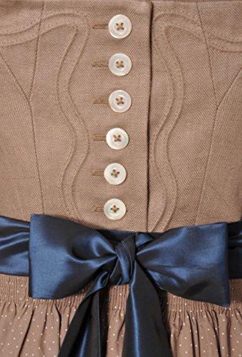 Dirndl lang 92 cm Schliersee beige/blau Hammerschmid