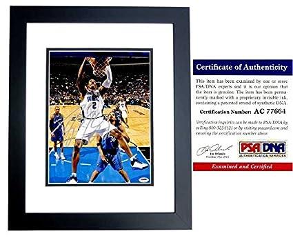 Dwight Howard Signed - Autographed Orlando Magic 11x14 inch Photo - BLACK  CUSTOM FRAME - PSA f019284b0