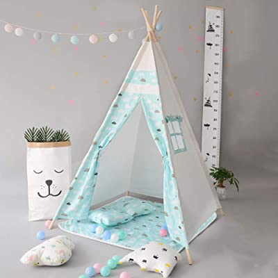 DalosDream Gaint Kids Teepee Play Tent with Matress -100% Natural Canvas Children Play Tent: Toys & Games [5Bkhe1000773]