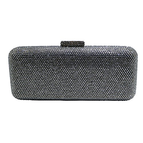 Grey Evening DMIX Bags Crystal Clutch Crystal Box 4C1qY