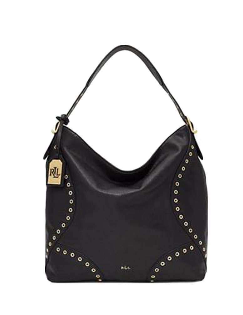 Lauren Ralph Lauren Womens Morley Small Hobo (Black)