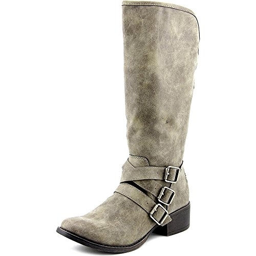 887865269212 - Madden Girl Women's Dakotaaa Motorcycle Boot, Stone, 6 M US carousel main 0
