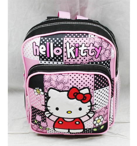 Sanrio Hello Kitty Mini Backpack with zip closer [Black/Pink] 8