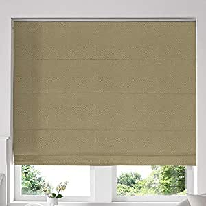 Blinds2Curtains Mixed Beige 280H x 60W cm Veronica Fern Roman Window Blinds