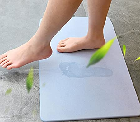 Fast Drying Shower Mat,Mildew Resistant Bathroom Floor Carpet,Bath mat Home Cal Non-Slip Bath Mat,Absorbent Diatomaceous Earth Pink,11.81 Wx11.81 H