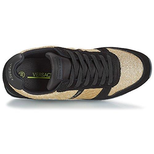 Mujer Oro Jeans Gimnasia Donna Zapatillas E901 para Dorado Versace Scarpe de 0dz4zqw
