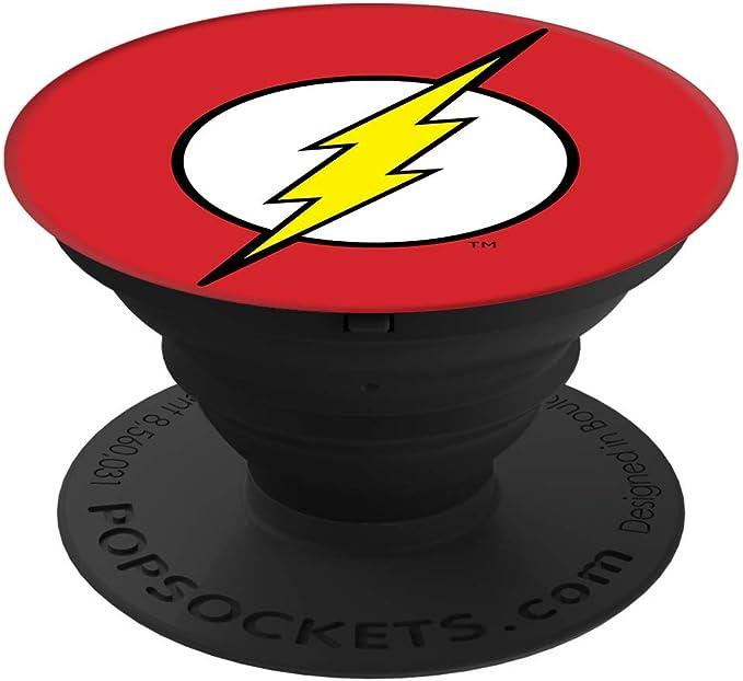 Popsockets Popgrip Nicht Austauschbarer Ausziehbarer Sockel Und Griff Für Smartphones And Tablets The Flash Icon Elektronik