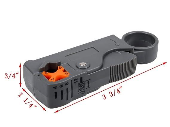 TMS Kit de herramienta de compresión F RCA BNC RG58 conector montaje coaxial crimpadora Cable Coaxial: Amazon.es: Bricolaje y herramientas