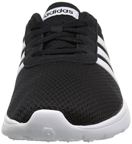 Adidas Neo Mens Lite Racer Löparskor Kärna Svart / Vit / Vit