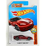 Hot Wheels, 2016 HW Digital Circuit, '11 Corvette Grand Sport [Maroon] Treasure Hunt #22/250