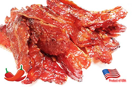 Made to Order Fire-Grilled Asian Bacon Jerky (Spicy Flavor - 12 Ounce ) aka Singapore Bak Kwa - Los Angeles Times