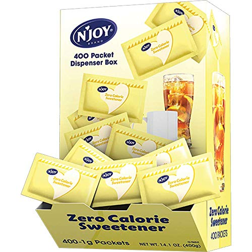 (N'Joy Zero Calorie Sweetener, Yellow Sucralose Packets, 400 Count)