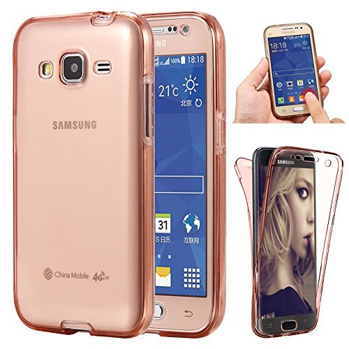 brand new 9a7f4 d8c43 J7 2015 case(Front+Back Cover Gel Series), Houshine Shockproof TPU 360  degree Protective Clear Crystal Rubber Soft Case Cover For Samsung Galaxy  J7 ...