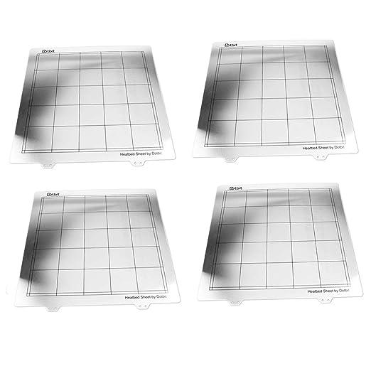 KESOTO 4pcs Impresora 3D Primavera Hoja De Acero Superficie De La ...