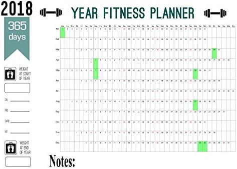 Calendario planificador anual 2018 de pared maxi, con 365 días ...