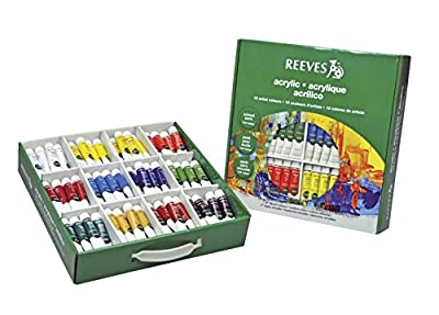 Reeves Non-Toxic Acrylic Paint Classroom Pack, 0.34 oz Tube, Assorted Color, Pack of 144