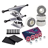 Cal 7 Skateboard Package Combo with Trucks, 52mm 99A wheels, Complete Set of Bearings and Steel Hardware