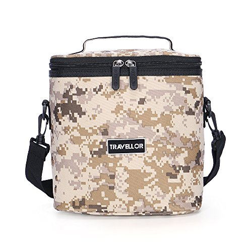 Cooler Bag KINGSWELL I7603 7L Durable and Waterproof Insulated Picnic Bag for Outdoor Camping,Hiking, Travelling,Fishing (Camo Desert)