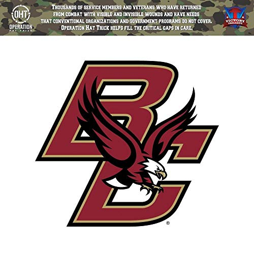 Victory Tailgate Boston College Eagles Operation Hat Trick OHT Die Cut Vinyl Decal (24 Inch)