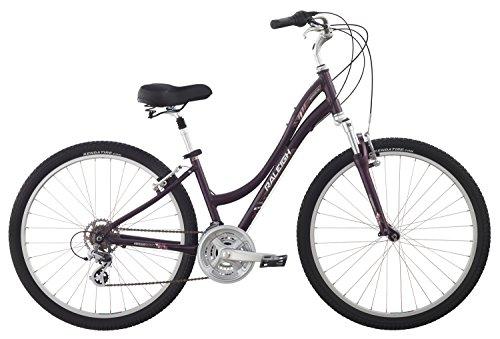 "Raleigh Bikes Venture 4.0 Step Thru Comfort Bike, 13"" /Xs Size, Purple, 13"" / X-Small"