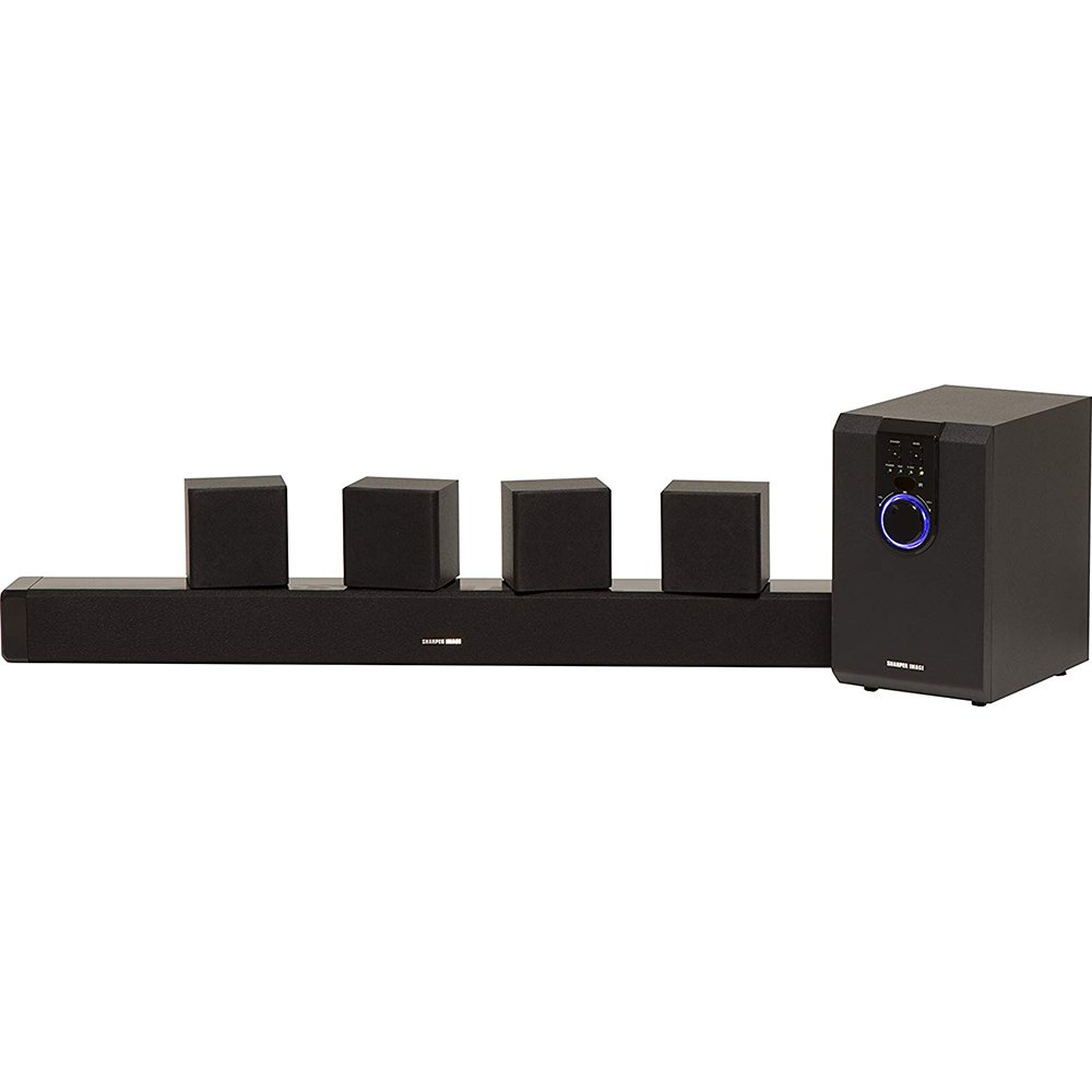 Sharper Image 5.1 Home Theater System With Subwoofer, Sound Bar & Satellite Speakers, Home Theater in a Box Surround Sound System (Worry-Free 12-Month Warranty Included) by Sharper Image