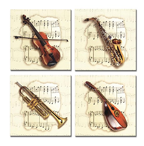 SpecialArt - Series Paintings Wall Art - four Musical