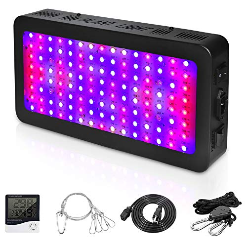 Goyaesque 1200W LED Grow Light, Full Spectrum Indoor Plants Garden, UV Red Blue for Vegetable & Bloom, Flower, Greenhouse, Adjustable,Switch Light. (1200W)