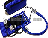 EMI ROYAL BLUE Sprague Rappaport Stethoscope and Aneroid Sphygmomanometer Blood Pressure Set Kit