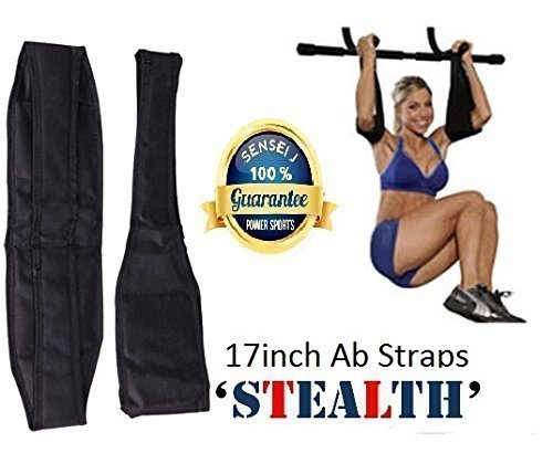 Ab Straps/Slings Shihan ABZ-ECLIPSE Standard AB-Crunch Sling AB Straps Weight Lifting Boxing Hanging Gym for Men/Women, AB Straps, Sling With Hook Hanging Ab Straps Padded Elbow Supports Chinning Bar