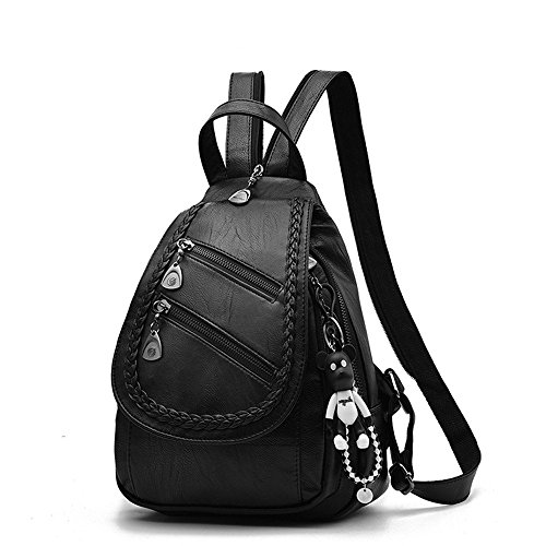 Moda Tote borsa cerniera pacchetto zaino casual doppia borsa donne cerniera Poke doppia tracolla a qwHRrpqxOz