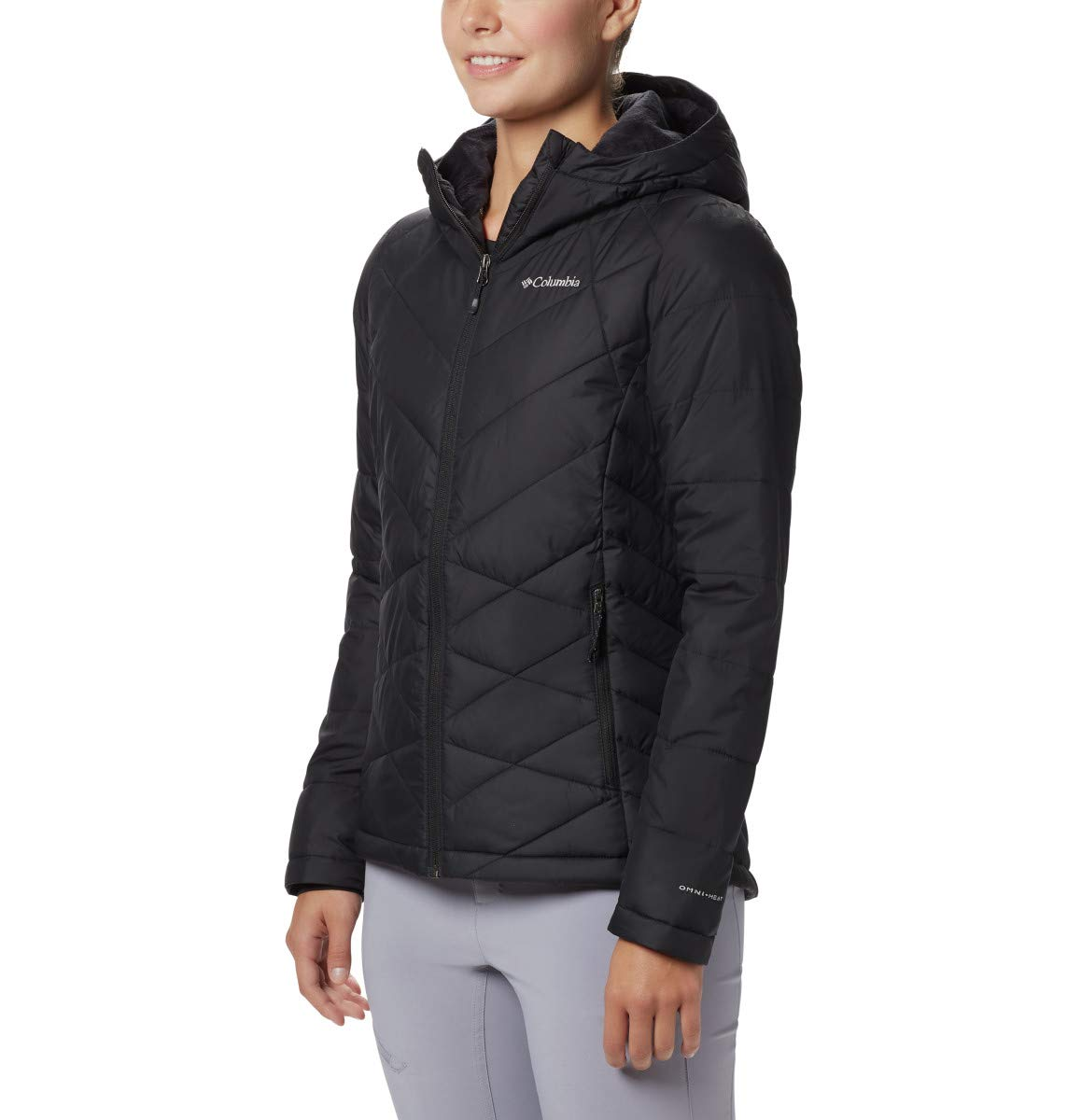 Columbia Women's Heavenly Hooded Jacket, Insulated, Black, Medium by Columbia