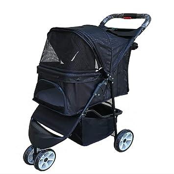 SHSHKO Carrito De Viaje para Cochecitos De Bebé Trolley Comfort Buggy Cochecito Plegable para Bebés Fit Perros Y Gatos,Black: Amazon.es: Hogar