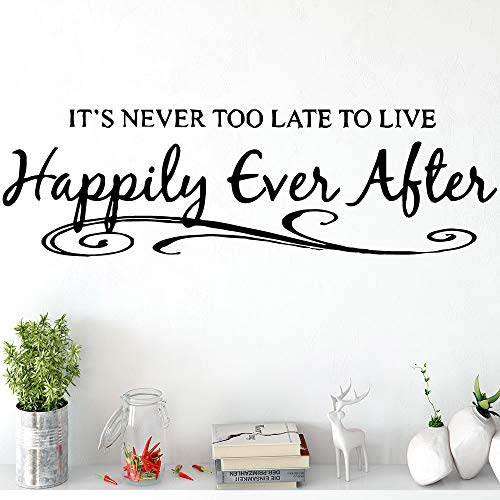 Quotes Happily Ever Alter Wall Art Decals Decorative Fashion Sticker for Kids Rooms Home Decoration Art Decor Wallpaper 90X26Cm ()