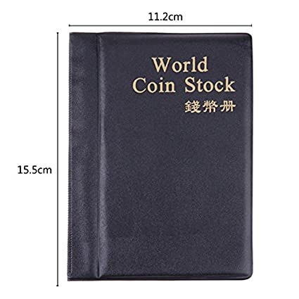 Black GRANDEY 10 Pages 120 Pockets Album for Coins Collection Book Home Decoration Photo Album PVC Coin Album Holders Collection Book