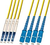 RiteAV - Direct Burial/Outdoor LC-SC 4-Strand Fiber Optic Cable - Singlemode (9/125) - 50M